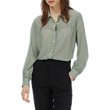 Buy Brora Pure Silk Spot Blouse, Eau De Nil Online at johnlewis.com