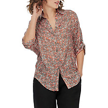 Buy Brora Graphic Print Shirt, Seville/Putty Online at johnlewis.com