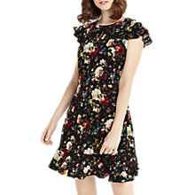 Buy Oasis Magnolia Ruffle Tea Dress, Multi Online at johnlewis.com