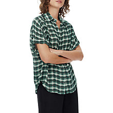 Buy Brora Shadow Plaid Shirt, Forest/Auburn Online at johnlewis.com
