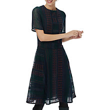 Buy Brora Embroidered Lace Dress, Bordeaux/Ivy Online at johnlewis.com