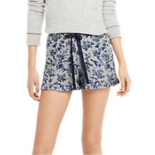 Buy Oasis Floral Print Pyjama Shorts, Grey/Multi Online at johnlewis.com