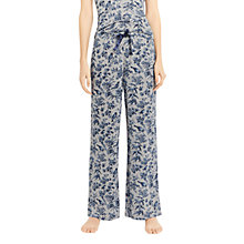 Buy Oasis Floral Print Pyjama Bottoms, Grey/Multi Online at johnlewis.com