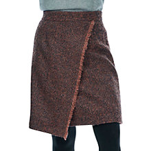 Buy Brora Herringbone Wool Wrap Skirt, Rosewood/Navy Online at johnlewis.com