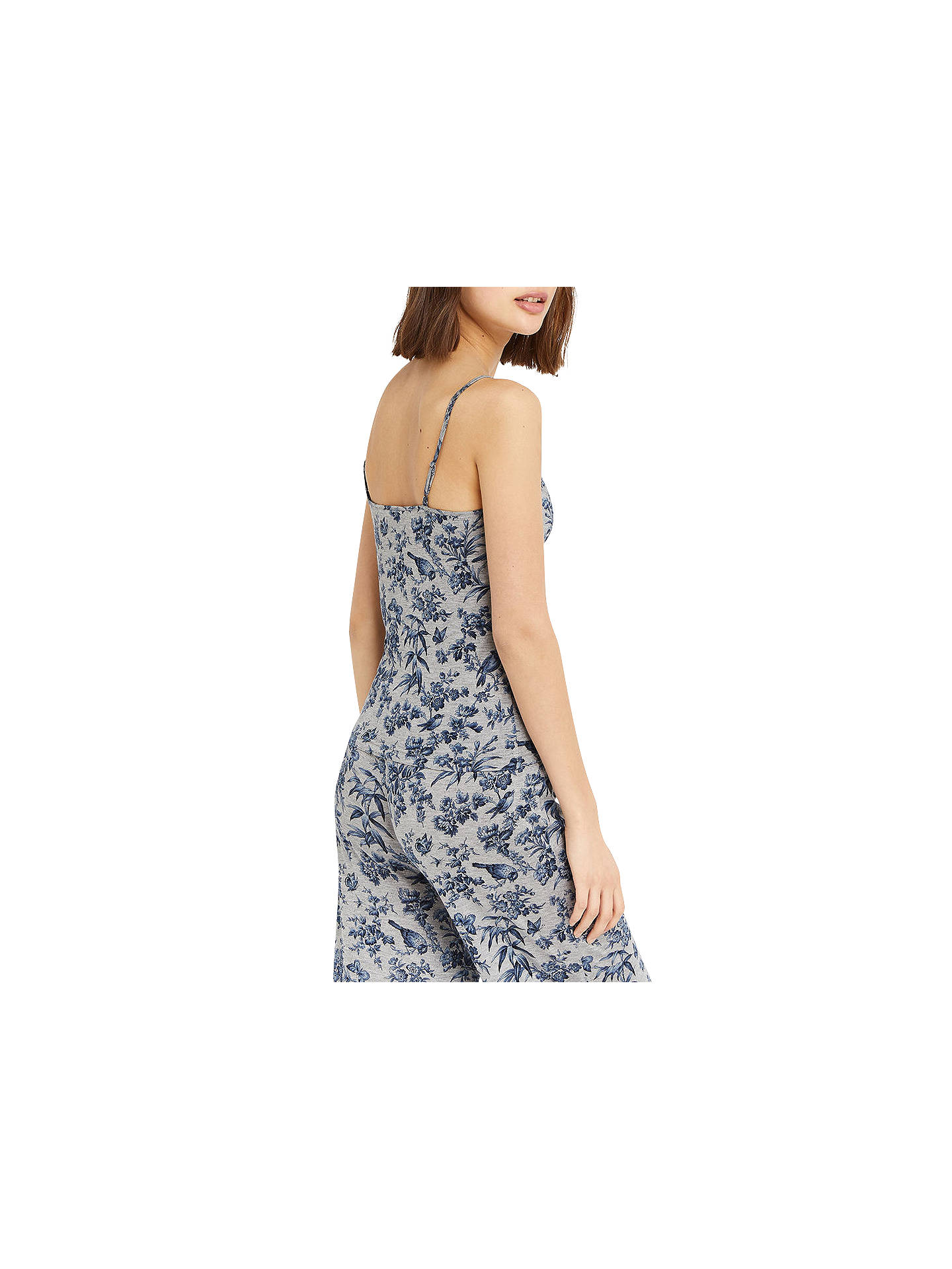 BuyOasis Floral Print Vest Top, Grey/Multi, XS Online at johnlewis.com