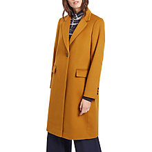 Buy Jaeger Wool Cashmere Boyfriend Coat, Mustard Online at johnlewis.com