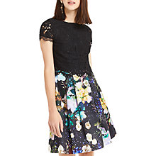 Buy Oasis 2 in 1 Digital Floral Dress, Multi/Black Online at johnlewis.com