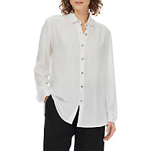 Buy Brora Sandwashed Silk Shirt, White Online at johnlewis.com