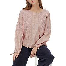 Buy Brora Textured Lace Blouse Online at johnlewis.com