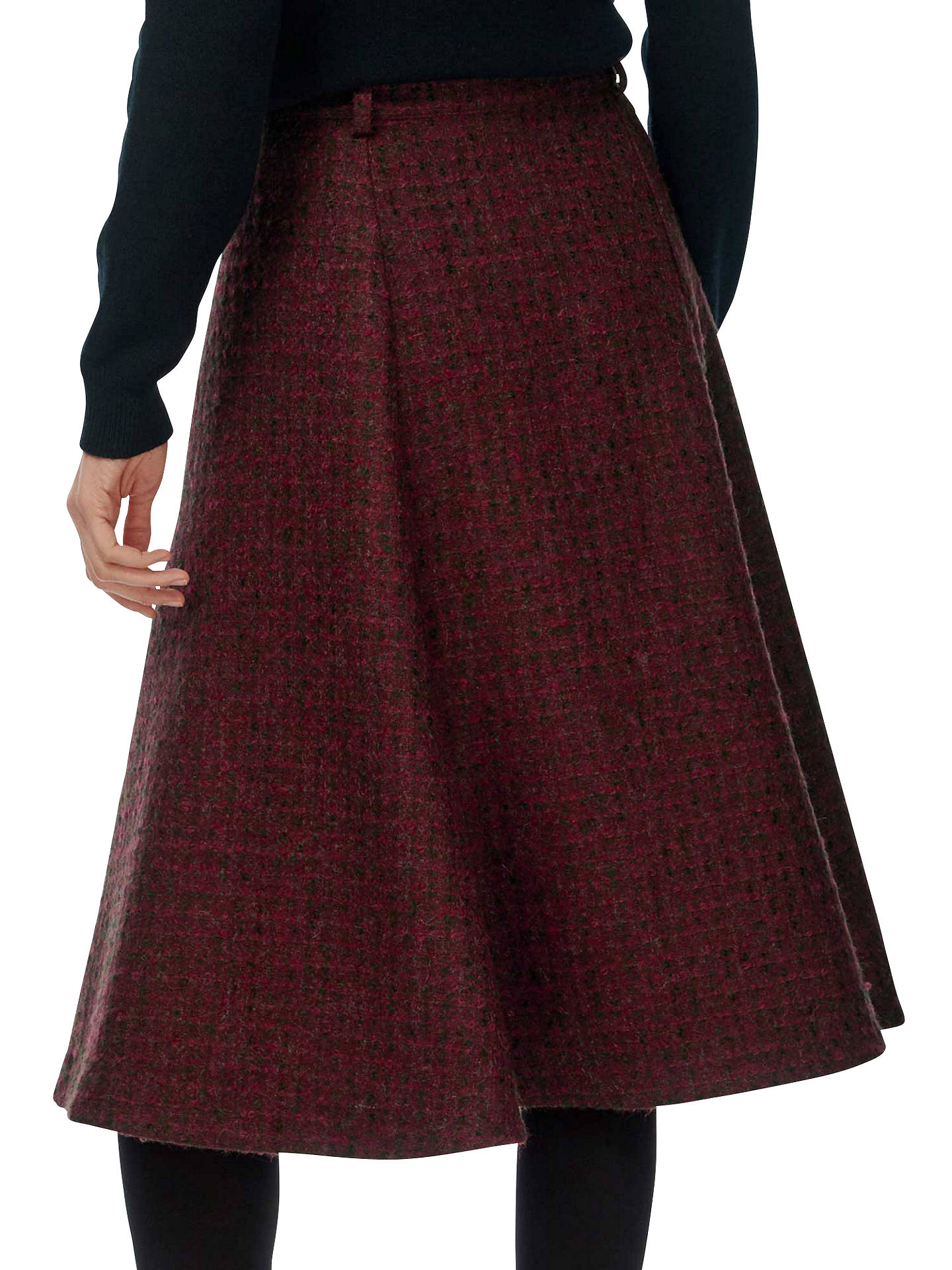 BuyBrora Textured Wool Skirt, Auburn, 6 Online at johnlewis.com