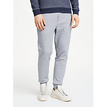 Buy BOSS Contrast Cuff Joggers, Grey/Navy Online at johnlewis.com
