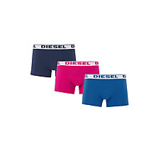 Buy Diesel Shawn Boxer Trunks, Pack of 3, Navy/Blue/Orange Online at johnlewis.com