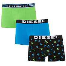 Buy Diesel Las Vegas Trunks, Pack of 3, Green/Blue/Black Online at johnlewis.com