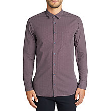 Buy BOSS Casual Cattitude Printed Shirt, Open Red Online at johnlewis.com