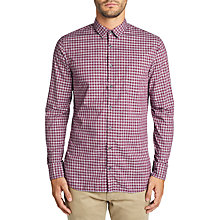 Buy BOSS Cattitude Check Shirt, Open Red Online at johnlewis.com