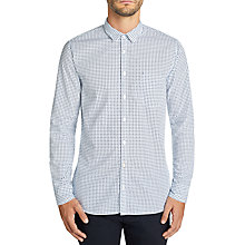 Buy BOSS Casual Cattitude Spot Shirt, Open Blue Online at johnlewis.com