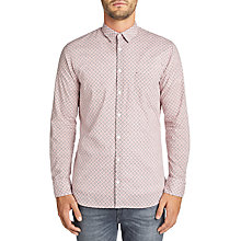 Buy BOSS Casual Cattitude Printed Shirt, Dark Brown Online at johnlewis.com