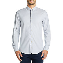 Buy BOSS Casual Customize Stripe Long Sleeve Shirt, Open Blue Online at johnlewis.com