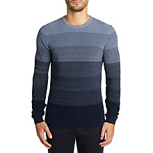 Buy BOSS Akatrusco Stripe Ribbed Jumper Online at johnlewis.com