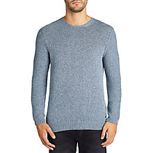 Buy BOSS Casual Arbromos Knitted Jumper, Open Blue Online at johnlewis.com