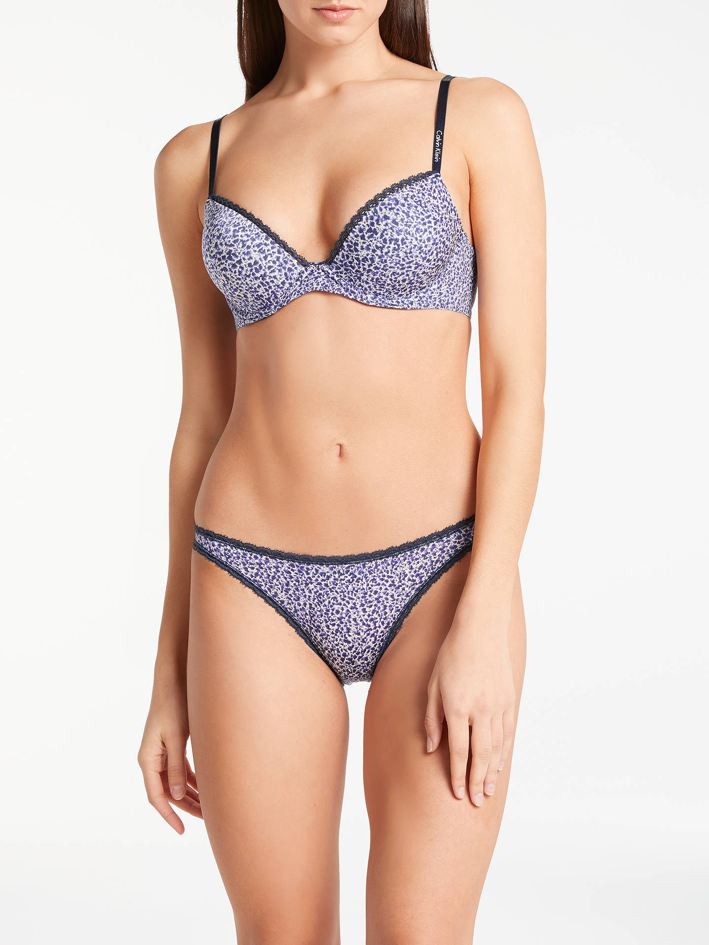 Buy Calvin Klein Seductive Comfort Demi Lift Bra, Archive Texture, 30C Online at johnlewis.com