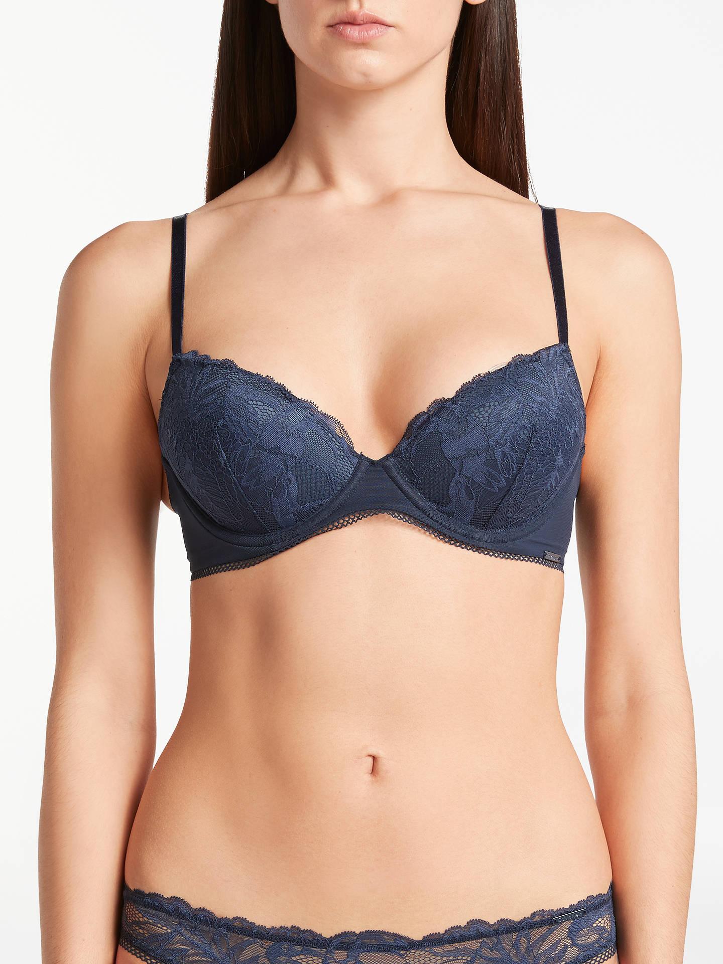 d906757bf128f Buy Calvin Klein Underwear Bird Lace Demi Lift Bra