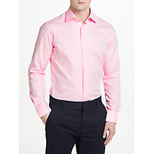 Buy Hackett London Long Sleeve Textured Shirt, Pink Online at johnlewis.com