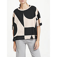 Buy PATTERNITY + John Lewis Signature Geo Crop T-Shirt, Nude/Black Online at johnlewis.com