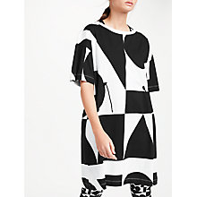 Buy PATTERNITY + John Lewis Oversized Print Drawcord Dress, Black/White Online at johnlewis.com