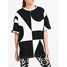 Buy PATTERNITY + John Lewis Signature Geo Long T-Shirt, Black/White Online at johnlewis.com
