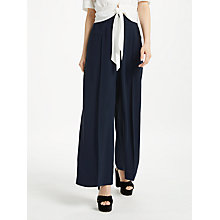 Buy Somerset by Alice Temperley Wide Leg Trousers, Navy Online at johnlewis.com