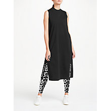 Buy PATTERNITY + John Lewis Side Split Vest Dress, Black Online at johnlewis.com