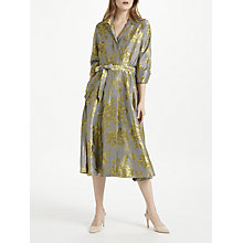 Buy Bruce by Bruce Oldfield Floral Jacquard Shirt Dress, Yellow/Black Online at johnlewis.com