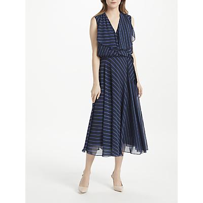 Bruce by Bruce Oldfield Stripe Midi Dress, Navy