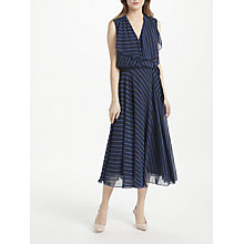 Buy Bruce by Bruce Oldfield Stripe Midi Dress, Navy Online at johnlewis.com