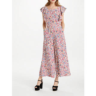 Somerset by Alice Temperley Fireflower Jumpsuit, White Mix