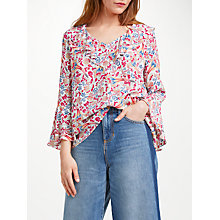 Buy Somerset by Alice Temperley Fireflower Frill Blouse, White Mix Online at johnlewis.com