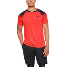 Buy Under Armour Raid 2 Short Sleeve Training T-Shirt, Neon Coral/Grey Online at johnlewis.com