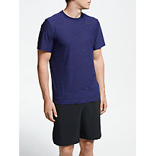 Buy Nike Breathe Training Top, Blue Void/Blackened Blue/Black Online at johnlewis.com