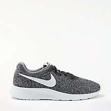 Buy Nike Tanjun SE Men's Trainers, Black/Pure Platinum/Cool Grey Online at johnlewis.com