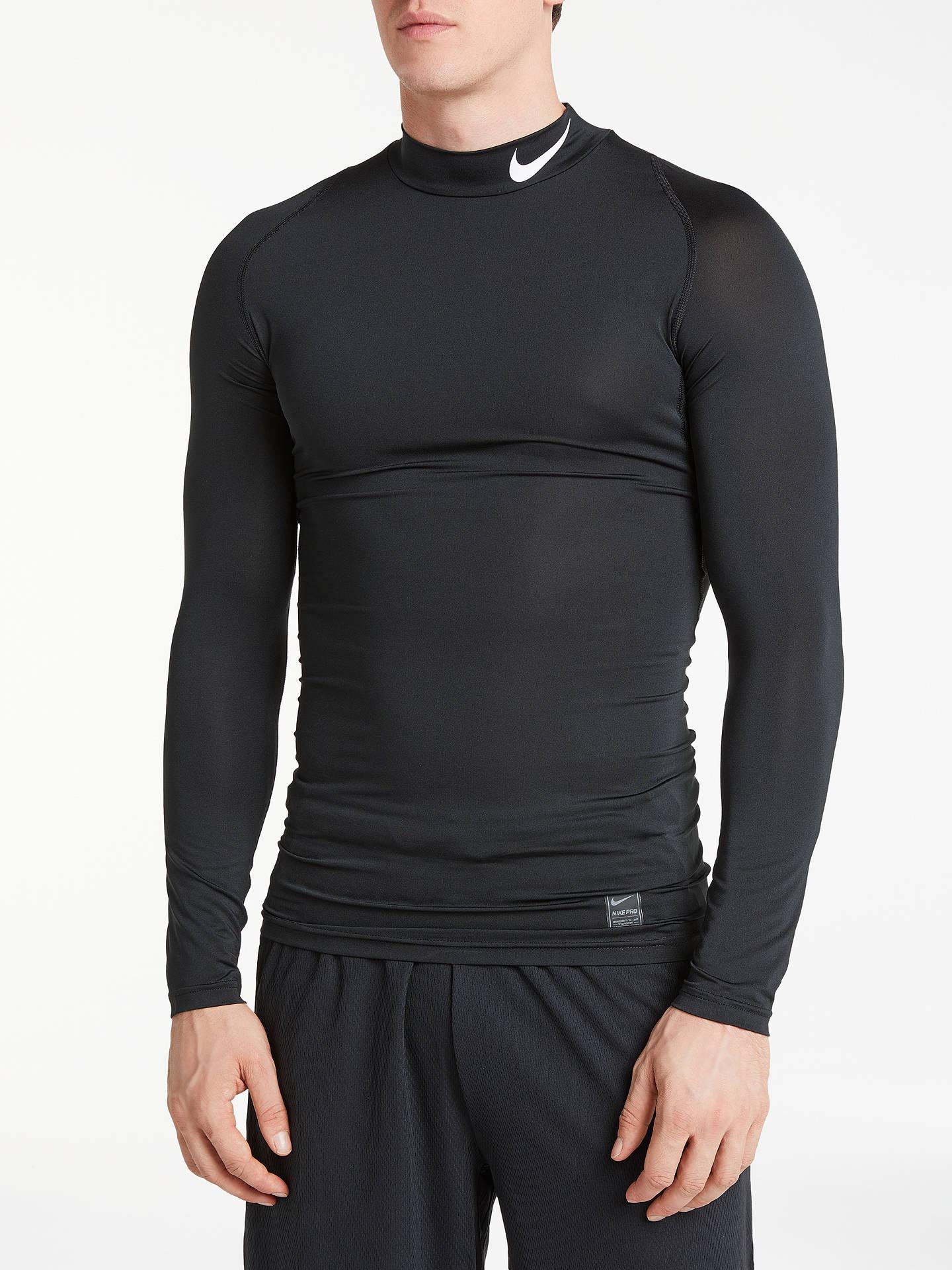 bd20c63a Buy Nike Pro Long Sleeve Training Top, Black/White, S Online at johnlewis  ...