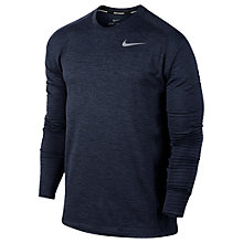 Buy Nike Therma Sphere Element Running Top, Obsidian Black/Heather Online at johnlewis.com