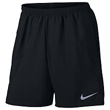 "Buy Nike Flex 7"" Chill Men's Running Shorts, Black Online at johnlewis.com"
