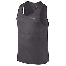 Buy Nike Dry Miler Running Tank, Gunsmoke/Heather Online at johnlewis.com