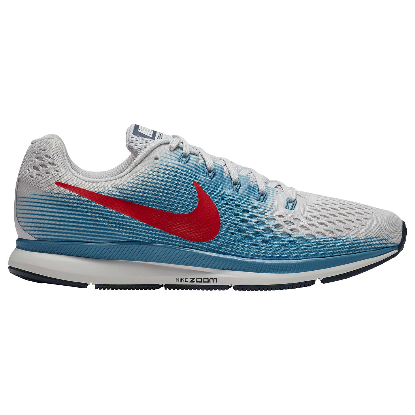 BuyNike Air Zoom Pegasus 34 Men's Running Shoes, Grey/Red, 7 Online at ...