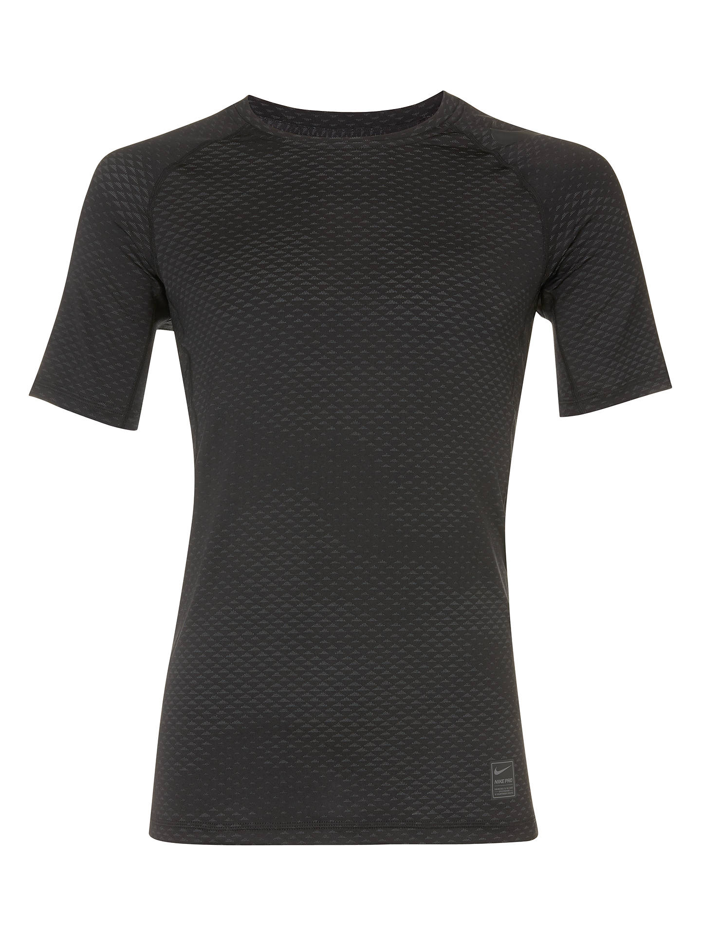 67394985 Buy Nike Pro Hypercool Training Top, Black, S Online at johnlewis.com