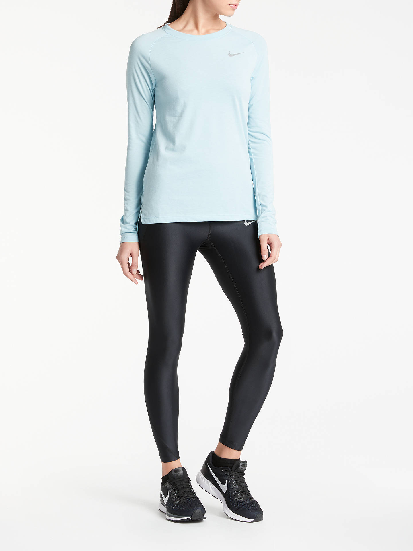 136b9d4337eab Buy Nike Speed 7/8 Running Tights, Black, XS Online at johnlewis.