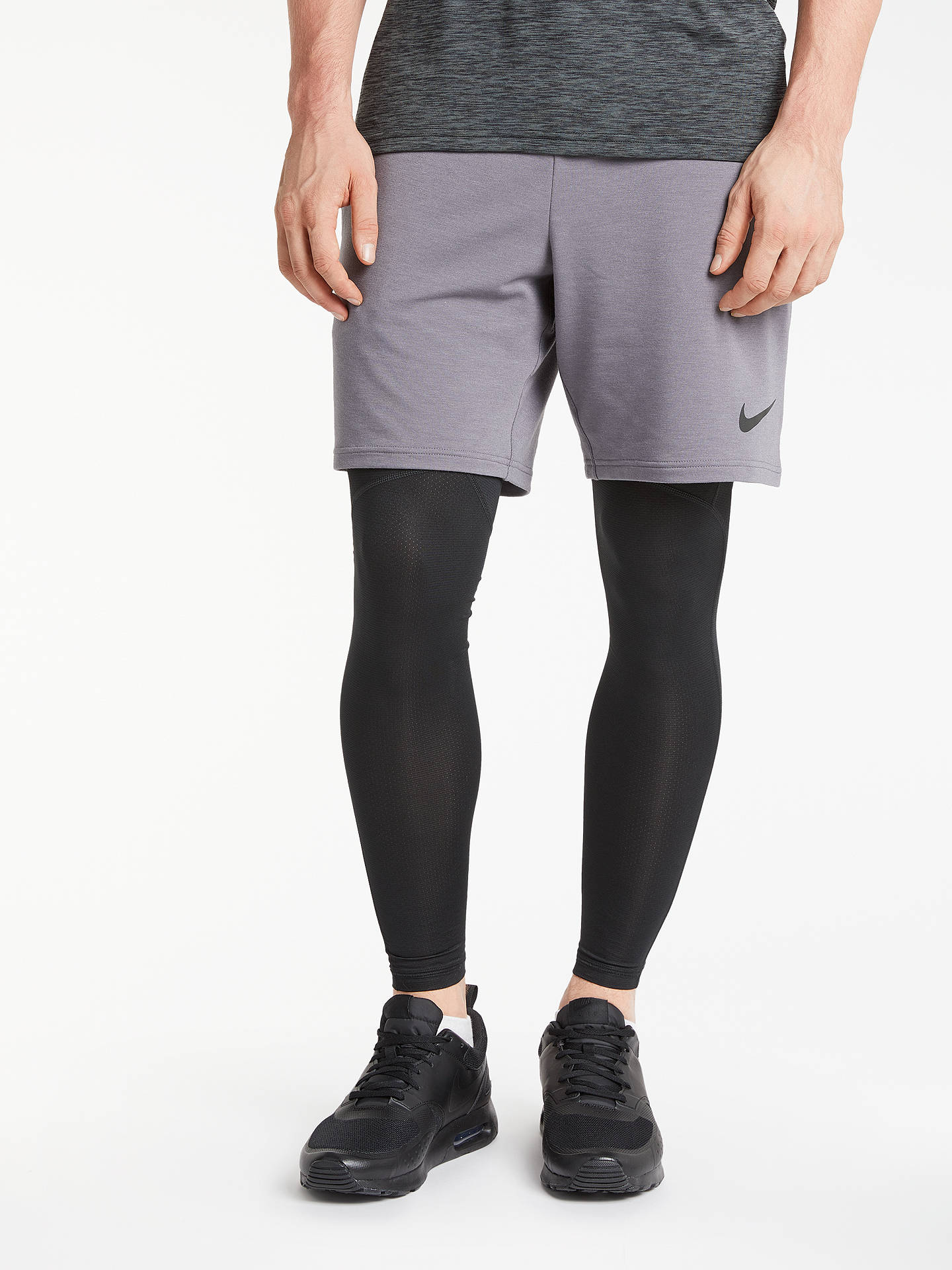 eb7aefc12574b Buy Nike Pro Hypercool Training Tights, Grey/Black, S Online at johnlewis.
