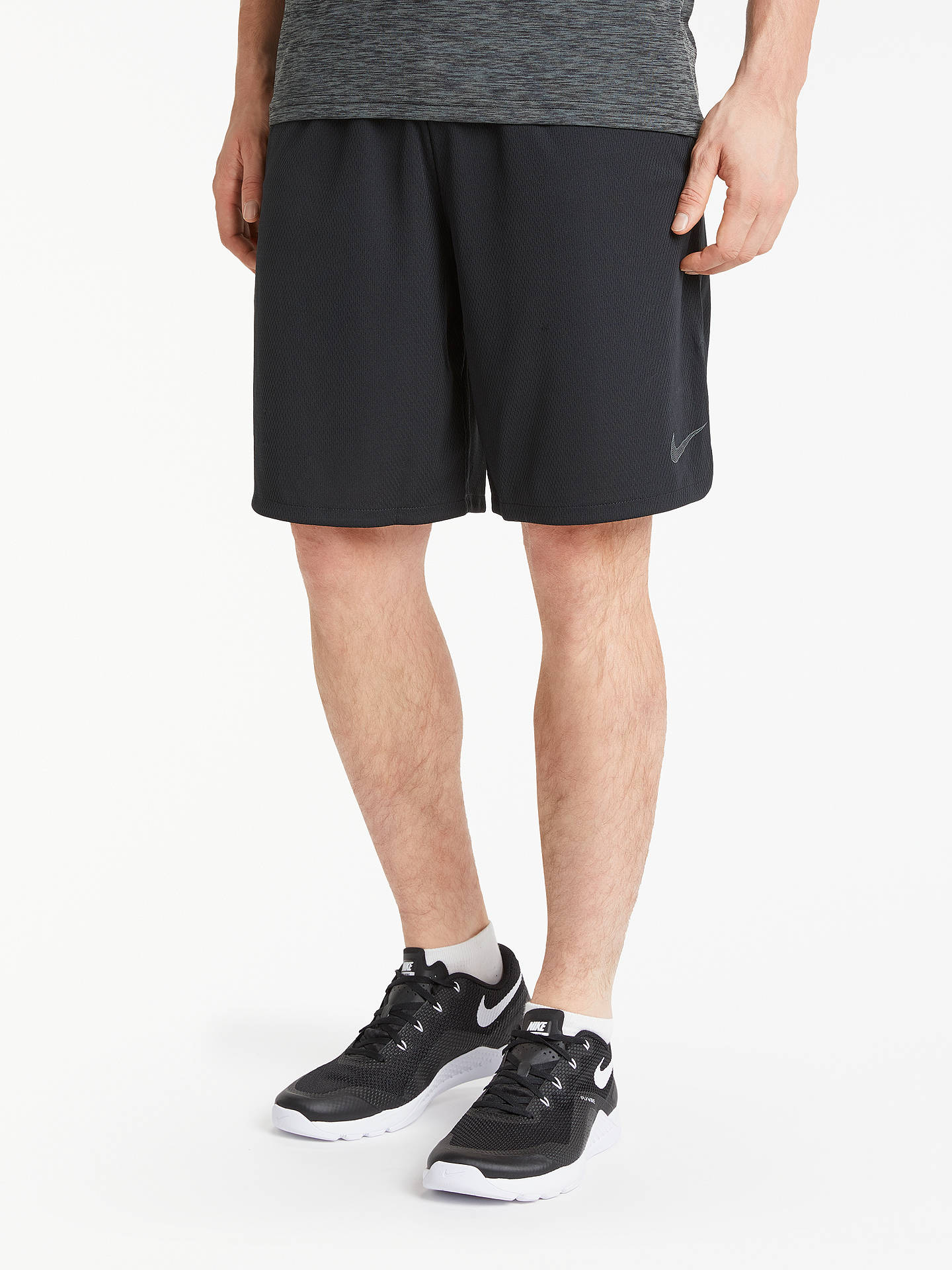 04be2bdabff2e Buy Nike Dry 4.0 Training Shorts, Black/Dark Grey, S Online at johnlewis ...