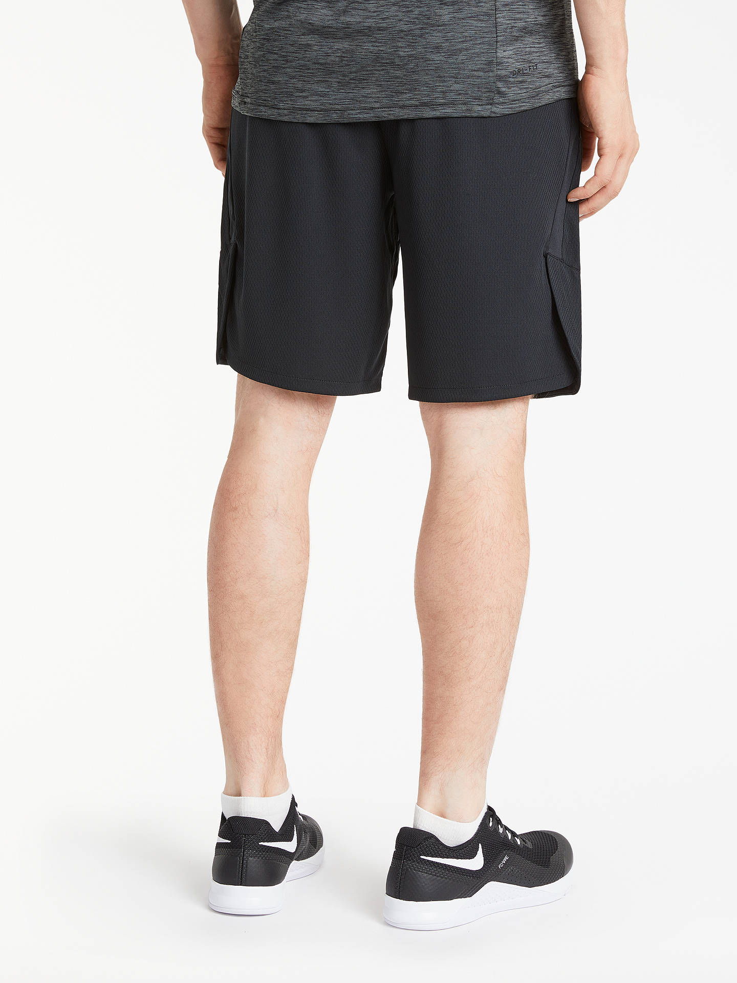 7492c0f6e57f0 ... Buy Nike Dry 4.0 Training Shorts, Black/Dark Grey, S Online at  johnlewis ...